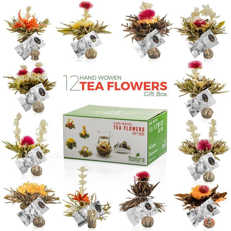 Coffret Cadeau de Thés aux Fleurs, 12 saveurs